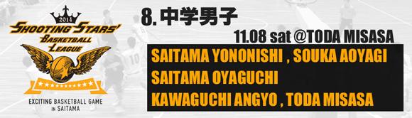 8. 中学男子 11/08(土)